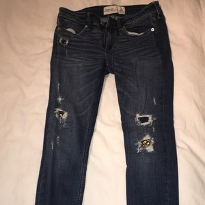 Abercrombie ripped jeans
